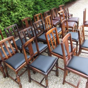 COLLECTION-OF-OAK-1920s-REFURBISHED-DINING-CHAIRS-FOR-PUBS-RESTAURANTS-ETC-302187829987