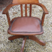 FINE-ANTIQUE-OFFICE-SWIVEL-CAPTAIN-S-CHAIR-VERY-CLEAN-DELIVERY-AVAILABLE-291752773755-2