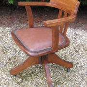 FINE-ANTIQUE-OFFICE-SWIVEL-CAPTAIN-S-CHAIR-VERY-CLEAN-DELIVERY-AVAILABLE-291752773755-7