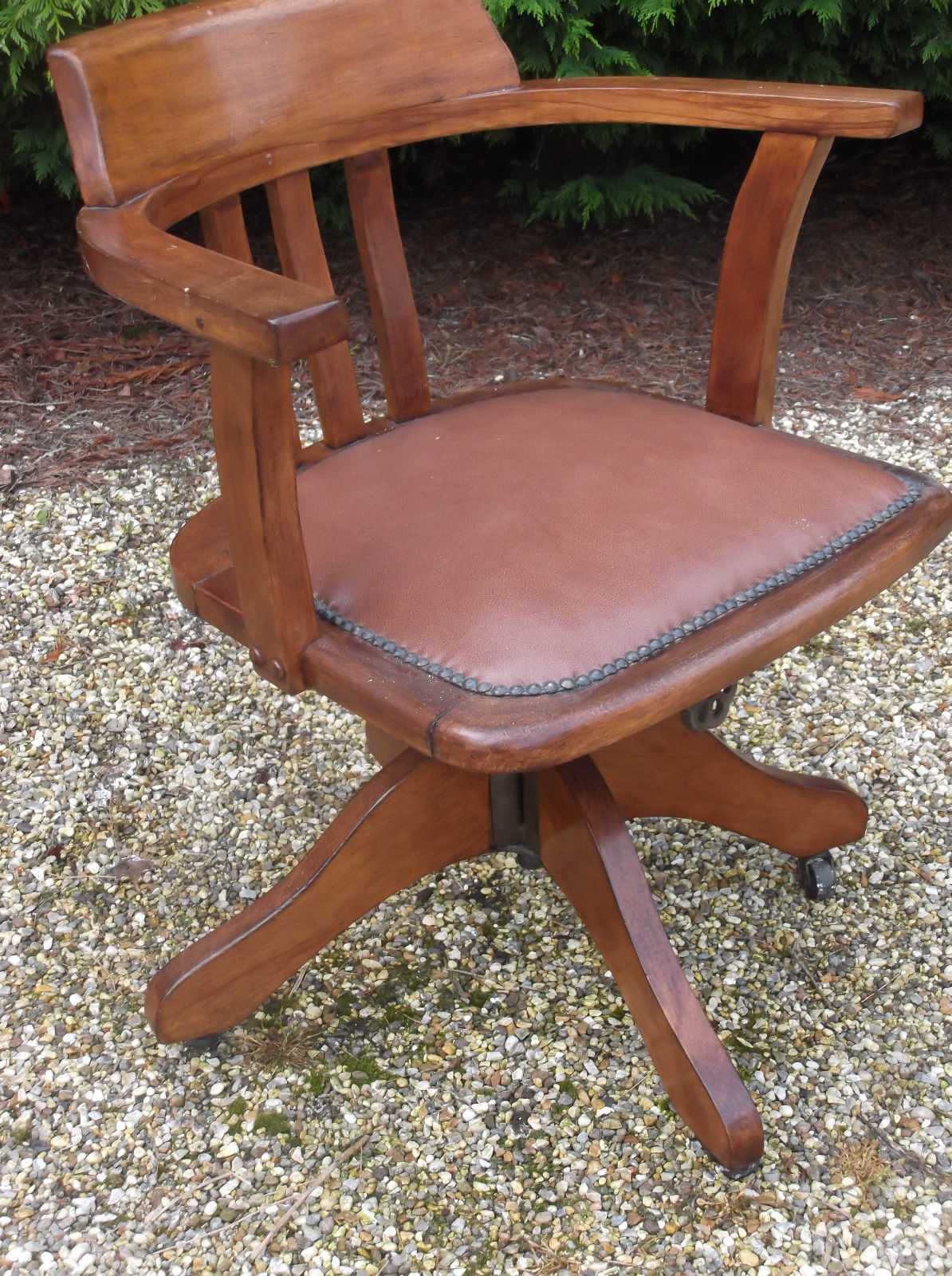 fine antique office swivel captain s chair very clean delivery