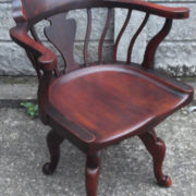 FINE-ANTIQUE-OFFICE-SWIVEL-CAPTAINS-CHAIR-VERY-CLEANCONDITION-DELIVERY-AVAILABLE-291752786951-12