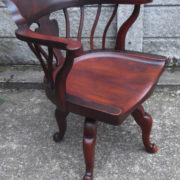 FINE-ANTIQUE-OFFICE-SWIVEL-CAPTAINS-CHAIR-VERY-CLEANCONDITION-DELIVERY-AVAILABLE-291752786951-2