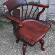 FINE-ANTIQUE-OFFICE-SWIVEL-CAPTAINS-CHAIR-VERY-CLEANCONDITION-DELIVERY-AVAILABLE-291752786951-3