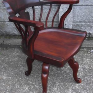 FINE-ANTIQUE-OFFICE-SWIVEL-CAPTAINS-CHAIR-VERY-CLEANCONDITION-DELIVERY-AVAILABLE-291752786951
