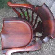 FINE-ANTIQUE-OFFICE-SWIVEL-CAPTAINS-CHAIR-VERY-CLEANCONDITION-DELIVERY-AVAILABLE-291752786951-4