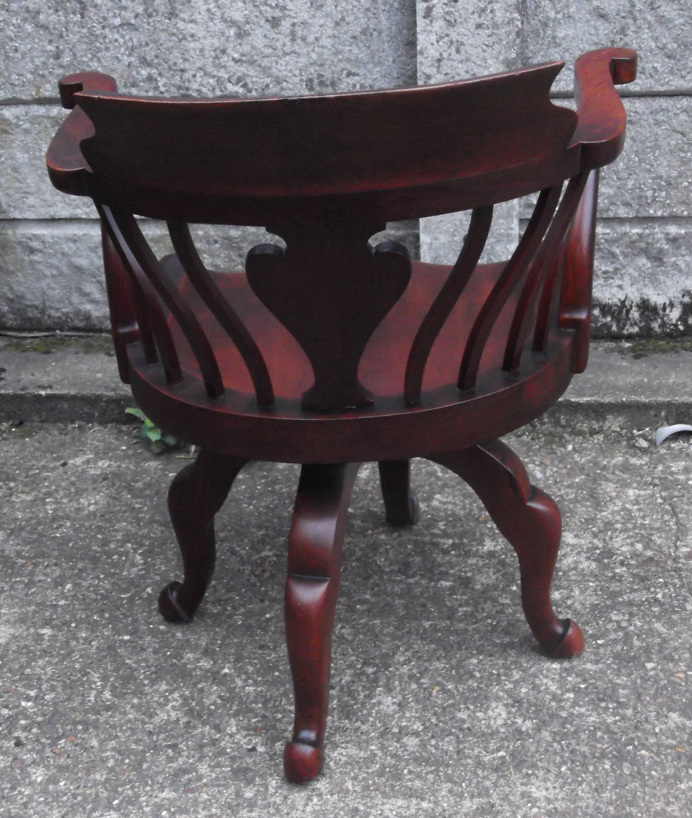 Fine Antique Office Swivel Captains Chair Very