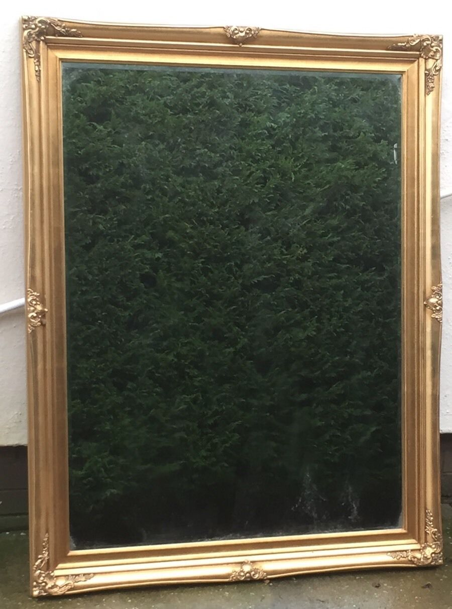 Fine antique style over mantle wall mirror very clean for Mantle mirror