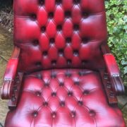 FINE-ANTIQUE-STYLE-OXBLOOD-LEATHER-DIRECTORS-SWIVEL-CHAIR-DELIVERY-AVAILABLE-292082957313-11