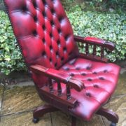 FINE-ANTIQUE-STYLE-OXBLOOD-LEATHER-DIRECTORS-SWIVEL-CHAIR-DELIVERY-AVAILABLE-292082957313-12