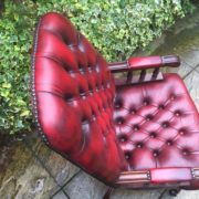 FINE-ANTIQUE-STYLE-OXBLOOD-LEATHER-DIRECTORS-SWIVEL-CHAIR-DELIVERY-AVAILABLE-292082957313-3