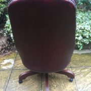 FINE-ANTIQUE-STYLE-OXBLOOD-LEATHER-DIRECTORS-SWIVEL-CHAIR-DELIVERY-AVAILABLE-292082957313-4