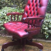 FINE-ANTIQUE-STYLE-OXBLOOD-LEATHER-DIRECTORS-SWIVEL-CHAIR-DELIVERY-AVAILABLE-292082957313-7
