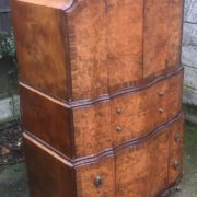 FINE-ART-DECO-WALNUT-TALLBOY-CABINETCHEST-LOTS-OF-STORAGE-DELIVERY-AVAILABLE-292083796206-11