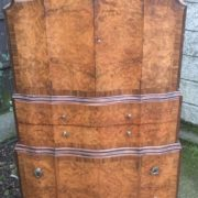 FINE-ART-DECO-WALNUT-TALLBOY-CABINETCHEST-LOTS-OF-STORAGE-DELIVERY-AVAILABLE-292083796206