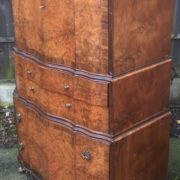 FINE-ART-DECO-WALNUT-TALLBOY-CABINETCHEST-LOTS-OF-STORAGE-DELIVERY-AVAILABLE-292083796206-2