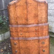 FINE-ART-DECO-WALNUT-TALLBOY-CABINETCHEST-LOTS-OF-STORAGE-DELIVERY-AVAILABLE-292083796206-3
