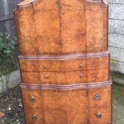 FINE-ART-DECO-WALNUT-TALLBOY-CABINETCHEST-LOTS-OF-STORAGE-DELIVERY-AVAILABLE-292083796206-4