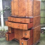 FINE-ART-DECO-WALNUT-TALLBOY-CABINETCHEST-LOTS-OF-STORAGE-DELIVERY-AVAILABLE-292083796206-5