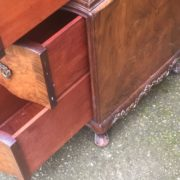 FINE-ART-DECO-WALNUT-TALLBOY-CABINETCHEST-LOTS-OF-STORAGE-DELIVERY-AVAILABLE-292083796206-7