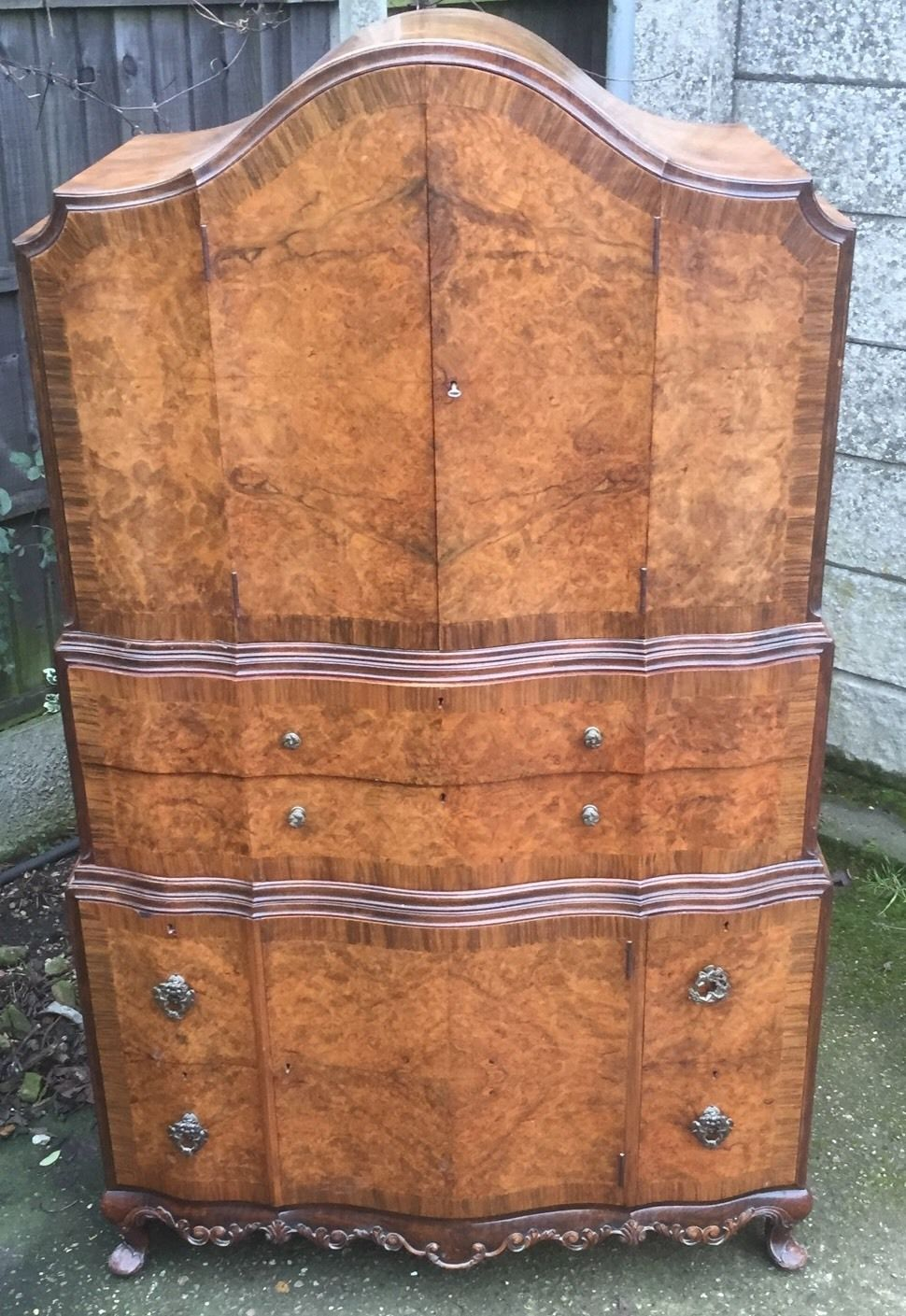 the latest d703f 7a1e7 FINE ART DECO WALNUT TALLBOY CABINET/CHEST LOTS OF STORAGE DELIVERY  AVAILABLE