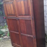 FINE-ARTS-CRAFTS-2-DOOR-OAK-HALL-WARDROBE-2-MAN-DELIVERY-AVAILABLE-292072723053-10