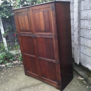 FINE-ARTS-CRAFTS-2-DOOR-OAK-HALL-WARDROBE-2-MAN-DELIVERY-AVAILABLE-292072723053-11