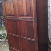 FINE-ARTS-CRAFTS-2-DOOR-OAK-HALL-WARDROBE-2-MAN-DELIVERY-AVAILABLE-292072723053-12