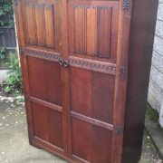 FINE-ARTS-CRAFTS-2-DOOR-OAK-HALL-WARDROBE-2-MAN-DELIVERY-AVAILABLE-292072723053-2