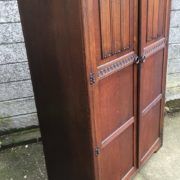 FINE-ARTS-CRAFTS-2-DOOR-OAK-HALL-WARDROBE-2-MAN-DELIVERY-AVAILABLE-292072723053-5