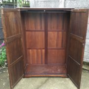 FINE-ARTS-CRAFTS-2-DOOR-OAK-HALL-WARDROBE-2-MAN-DELIVERY-AVAILABLE-292072723053-9