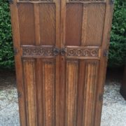 FINE-ARTS-CRAFTS-2-DOOR-OAK-HALL-WARDROBE-2-MAN-DELIVERY-AVAILABLE-302269274408-10