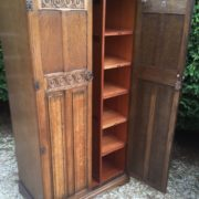 FINE-ARTS-CRAFTS-2-DOOR-OAK-HALL-WARDROBE-2-MAN-DELIVERY-AVAILABLE-302269274408-2