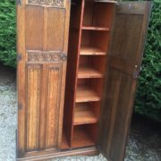 FINE-ARTS-CRAFTS-2-DOOR-OAK-HALL-WARDROBE-2-MAN-DELIVERY-AVAILABLE-302269274408-5