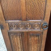 FINE-ARTS-CRAFTS-2-DOOR-OAK-HALL-WARDROBE-2-MAN-DELIVERY-AVAILABLE-302269274408-7