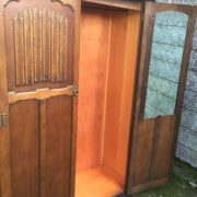 FINE-ARTS-CRAFTS-2-DOOR-OAK-HALL-WARDROBE-2-MAN-DELIVERY-AVAILABLE-302285551957-3
