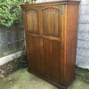 FINE-ARTS-CRAFTS-2-DOOR-OAK-HALL-WARDROBE-2-MAN-DELIVERY-AVAILABLE-302285551957-5