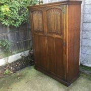 FINE-ARTS-CRAFTS-2-DOOR-OAK-HALL-WARDROBE-2-MAN-DELIVERY-AVAILABLE-302285551957-6