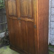 FINE-ARTS-CRAFTS-2-DOOR-OAK-HALL-WARDROBE-2-MAN-DELIVERY-AVAILABLE-302285551957-7