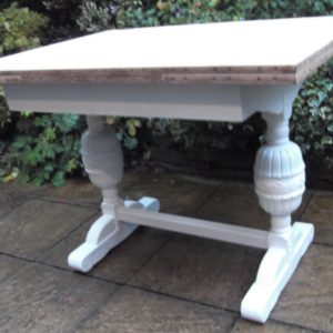 FINE-ARTS-CRAFTS-PAINTED-CHIC-EXTENDING-DINING-TABLE-DELIVERY-AVAILABLE-302289022902