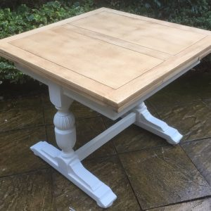 FINE-ARTS-CRAFTS-PAINTED-CHIC-OAK-EXTENDING-DINING-TABLE-DELIVERY-AVAILABLE-302278211582