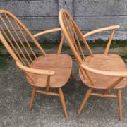 FINE-PAIR-OF-ERCOL-QUAKER-ARMCHAIRS-VERY-CLEAN-CONDITION-DELIVERY-AVAILABLE-292072723052-11