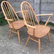 FINE-PAIR-OF-ERCOL-QUAKER-ARMCHAIRS-VERY-CLEAN-CONDITION-DELIVERY-AVAILABLE-292072723052-8