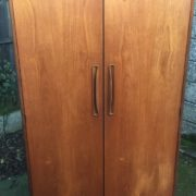 FINE-RETRO-TEAK-G-PLAN-2-DOOR-FITTED-WARDROBE-CLEAN-CONDITION-DELIVERY-AVAILABLE-302263524949-2