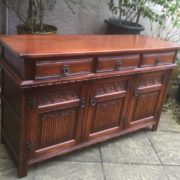 LARGE-OAK-OLD-CHARM-3-DOOR-HERTFORD-SIDEBOARD-CLEAN-CONDITION-2-MAN-DELIVERY-302263267000