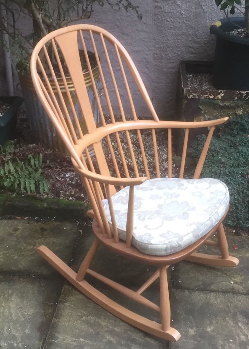 OUTSTANDING ERCOL ROCKING ARMCHAIR 2 AVAILABLE – Water ...