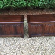 RARE-PAIR-OF-OLD-CHARM-STYLE-OAK-RUG-TOY-CHESTSBLANKET-BOXESCOFFEE-TABLES-302263233627-2