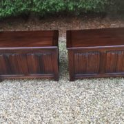RARE-PAIR-OF-OLD-CHARM-STYLE-OAK-RUG-TOY-CHESTSBLANKET-BOXESCOFFEE-TABLES-302263233627-3
