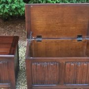 RARE-PAIR-OF-OLD-CHARM-STYLE-OAK-RUG-TOY-CHESTSBLANKET-BOXESCOFFEE-TABLES-302263233627-5