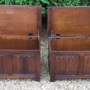 RARE-PAIR-OF-OLD-CHARM-STYLE-OAK-RUG-TOY-CHESTSBLANKET-BOXESCOFFEE-TABLES-302263233627-6