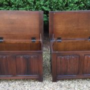 RARE-PAIR-OF-OLD-CHARM-STYLE-OAK-RUG-TOY-CHESTSBLANKET-BOXESCOFFEE-TABLES-302263233627-7